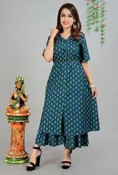 Cotton Anarkali Stylish Party Wear Kurtis, Wash Care: Machine wash