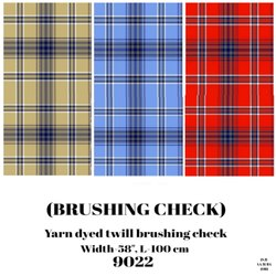 Brushing Check Yarn Dyed Twill Brushing Check Shirting Fabric