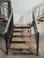 Brown Indoor Wooden Staircase