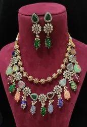Designer Meenakari Stone Necklace Set