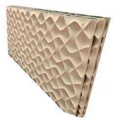 White Engraving Wave Pattern Sandstone, For Wall