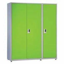 Geeken 3 Doors Broadway Steel Almirah, For Office/ Home Usage, Size: H 2010 X W 1220 X D 585 mm