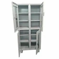 Double Door Stainless Steel Glass Cupboard