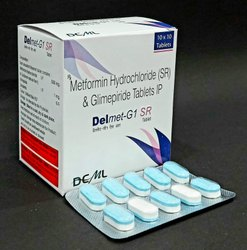 Glimepiride 1mg+Metformin 500mg SR (Bi-Layer)