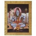 Mahadev Tanjore painting on paper sheet