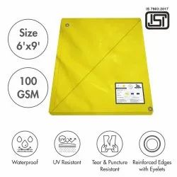 Yellow HDPE Tarpaulin, For Agriculture, Packaging Type: Bundle