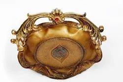 Golden Brass Fruit Basket, For Home