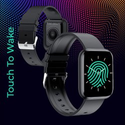 Black Square Fire Boltt Smart Watch For Daily