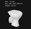 Squad White Ewc Toilets Seats With S P Trap, For Bathroom Fitting