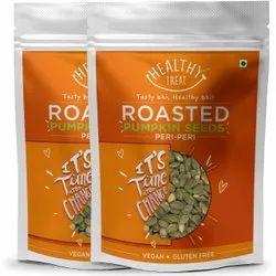 Healthy Treat Roasted Pumpkin Seeds- Peri Peri 300 Gm -pack Of 2- 150gm Each
