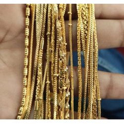 Modern Artificial Gold Plated Chain