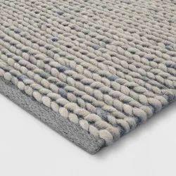 Rectangular Hand Woven Woolen Rugs, For Home