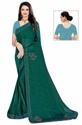 Janasya Women's Multicolor Sana Silk Embellished Saree With Blouse Piece(MESSANGER-Pack of 4)