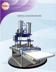 Pneumatic Four Layer Paratha Making Machine