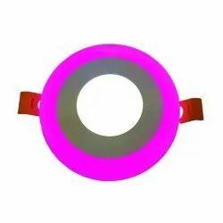 3W D'Mak W+P Round Double Color LED Conceal Panel Light