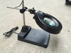 Desktop Iluminated Magnifier 20x Black ESD Safe
