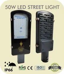 Cool White 45W LED Street Light-G, 100-305 Vac