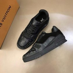 White & Black Sneakers Louis Vuitton Trainer Sneaker