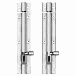 Atlantic Modern Plain Tower Bolt 6 Inch (Stainless Steel, Two Tone Silver)
