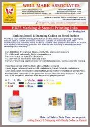 HDPE Sacs Marking, Stamping and Batch Coding Ink