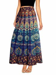 Mandala Print Wrap Around Skirt