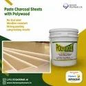 Polywood Water Based Adhesive To Paste Charcoal Sheets On Board