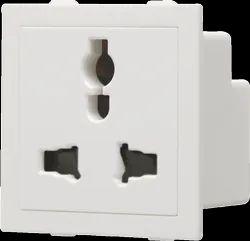 Glint White Modular Socket