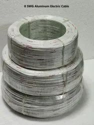 8 SWG Aluminum Electric Cable