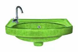 Ceramic Green ROUND RUSTIC WASH BASIN, For MAXCERA