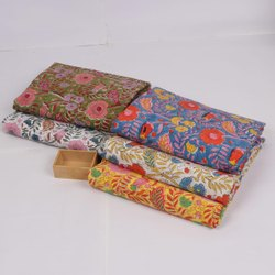 Hand Block Printed Dress Fabric Wholesaler