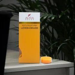 AuraDecor Lemongrass Fragrance Tealight ( Pack of 10 ) ( Acrylic )