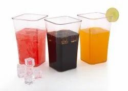 Transparent Plain Plastic Glass