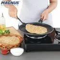 Magnus Optima Non-Stick Aluminium Roti/Dosa Tawa 275 Mm, Hammertone Finish, Bakelite Handle