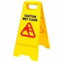 Caution Wet Floor Sign Board and Cleaning In Progress Sign Board