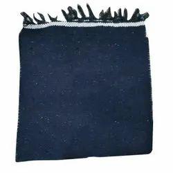 Plain Blue Cotton Handloom Rug, Size: 6x2feet