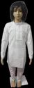 Cotton Casual Wear Lucknowi White Lining Embroidery Kurta Pajama Set, Machine Wash