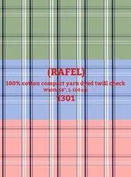 Rafel Cotton Compact Yarn Dyed Twill Check Shirting Fabric