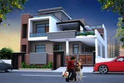 Residence Living Room Interior Building Design Service, In Pan India