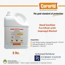 IPA Based Hand Sanitizer WHO Recommended Farmula 99.9% Germ Protection