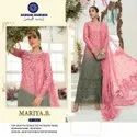 Ladies Designer Net With Embroidery Suit