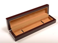 Plain Brown Wooden Chain Box, 3x10inch, Rectangular