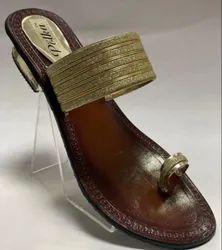 Women Casual Wear Fancy Leather Slipper, TPR, Size: 38