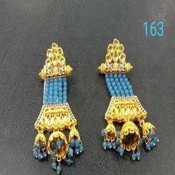 New Design Western Kundan Earring Set For Women And Girl Bijoux