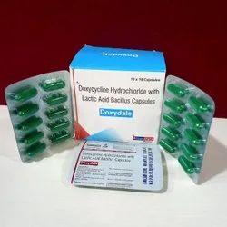 Doxycycline hydrochloride and lactic acid bacillus