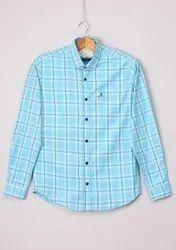 Mens Regular Fit Cotton Check Shirts