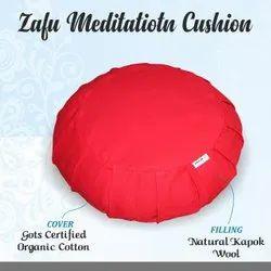 Meditation Zafu Cushion in GOTS Certified fabric having Kapok Fill