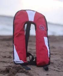 Without Sleeves Nylon Go Float 275N Auto Inflatable Life Jacket