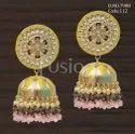 Fusion Arts Meenakari Kundan Jhumka Earrings