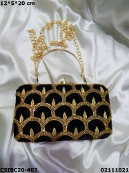 Rectangular Jute & Raw Silk Designer Ethnic Box Clutches