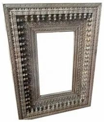 Wooden Cared Carved Rectangle Mirror Frame, Size/Dimension: 90 X 10 X 120